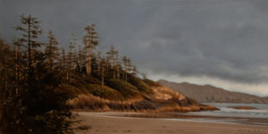 "SOLD ""Headland in August Light,"" by Ray Ward 10 x 20 – oil $1080 Unframed"