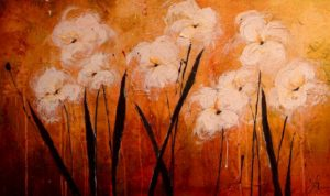 "SOLD ""Here in the Sway,"" by Laura Harris 24 x 40 – acrylic/mixed media $2270 Unframed"