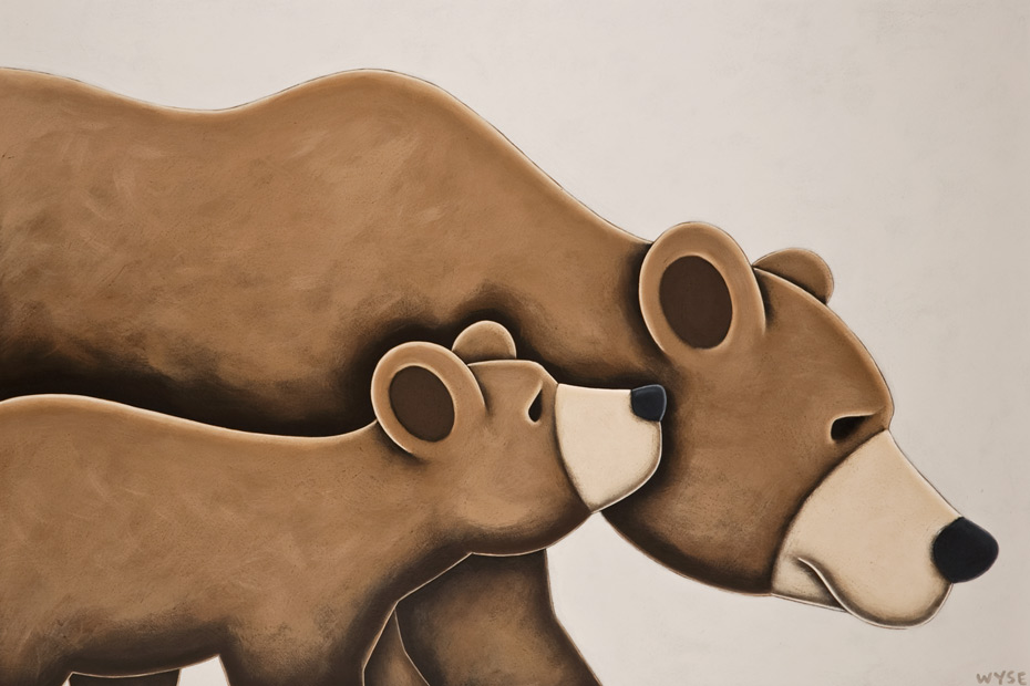 SOLD ``Hey Ma,`` by Peter Wyse 24 x 36 - acrylic $2760 (unframed panel with 1 1/2`` edging)