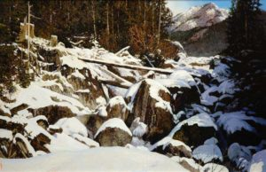 "SOLD ""High Country Winter,"" by Alan Wylie 16 x 24 – oil $4500 Framed"