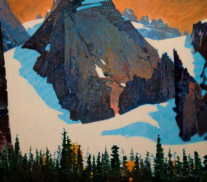 "SOLD ""High Pattern Above Oesa,"" by Robert Genn 30 x 34 – acrylic $12,000 Unframed"