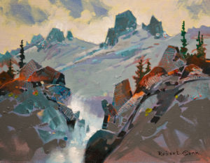 "SOLD ""High Tumult, Bugaboos,"" by Robert Genn 11 x 14 – acrylic $2800 Unframed"