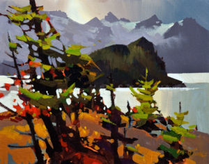 "SOLD ""Howe Sound, Anvil Island,"" by Michael O'Toole 11 x 14 – acrylic $825 Unframed"