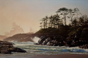 "SOLD ""Immersed in Splendour,"" by Ray Ward 20 x 30 – oil $2080 Unframed"