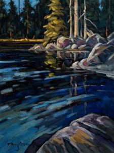 "SOLD ""Inland Waters,"" by Phil Buytendorp 12 x 16 – oil $1025 Framed"