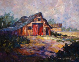 "SOLD ""In Manitoba,"" by Phil Buytendorp 16 x 20 – oil $1320 Framed"