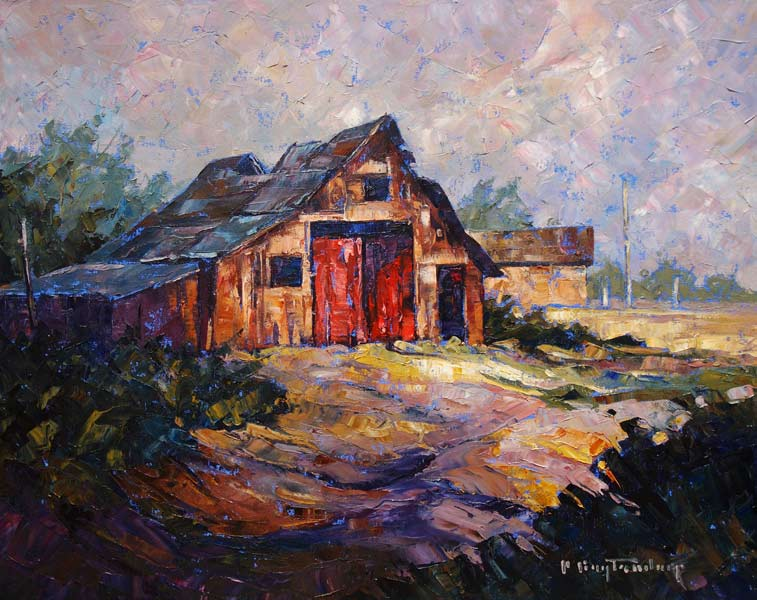 SOLD ``In Manitoba,`` by Phil Buytendorp 16 x 20 - oil $1320 Framed