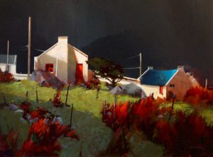 "SOLD ""Irish Light, County Mayo,"" by Michael O'Toole 30 x 40 – acrylic $3060 Framed"
