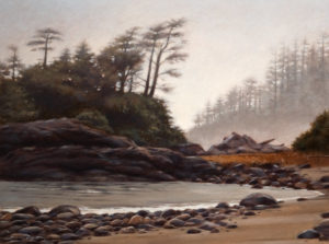 "SOLD ""January Mist,"" by Ray Ward 12 x 16 – oil $1110 Unframed"