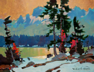 "SOLD ""Jasper Lakes Contraluz,"" by Robert Genn 11 x 14 – acrylic $2200 Unframed"