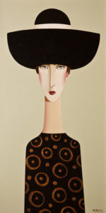 "SOLD ""Juliet,"" by Danny McBride 12 x 24 – acrylic $1800 (thick canvas wrap without frame)"