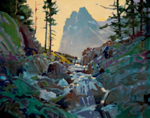 "SOLD ""Just Before the McArthur Meadows, Yoho,"" by Robert Genn 16 x 20 – acrylic $4000 Unframed"