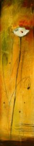 "SOLD ""Just One for You,"" by Susan Flaig 12 x 48 – acrylic with graphite $1030 Unframed"