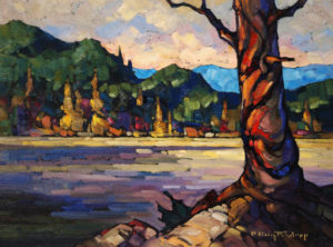 "SOLD ""Lake of the Trees,"" by Phil Buytendorp 12 x 16 – oil $1025 Framed"