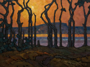 "SOLD ""Lakeside Evening,"" by Phil Buytendorp 12 x 16 – oil $1100 Unframed"