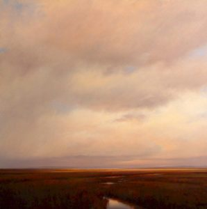 "SOLD ""Late Afternoon, Mud Bay,"" by Renato Muccillo 48 x 48 – oil"