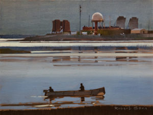 "SOLD ""Late Light, Tuktoyaktuk,"" by Robert Genn 12 x 16 – acrylic $3900 Unframed"