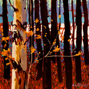 "SOLD ""Light and White Poplar,"" by Michael O'Toole 12 x 12 – acrylic $800 Unframed"