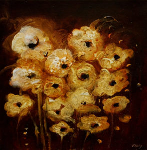 "SOLD ""The Light Within,"" by Susan Flaig 12 x 12 – acrylic with graphite $440 Unframed"