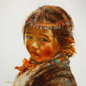 "SOLD ""Little Jewel,"" by Donna Zhang 30 x 30 – oil"