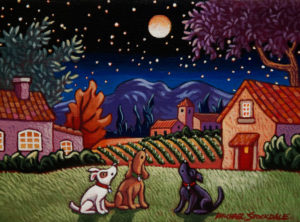 """SOLD """"A Little Night Music,"""" by Michael Stockdale 6 x 8 – acrylic $290 Unframed"""