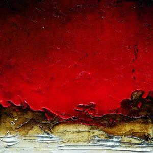 "SOLD ""Little Red,"" by Laura Harris 12 x 12 – acrylic $1010 (thick canvas wrap without frame)"