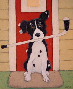 """SOLD """"Locked Out,"""" by Peter Wyse 10 x 12 – acrylic $425 (unframed panel  with 1 1/2"""" wide edging)"""