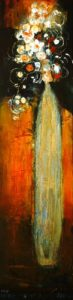 "SOLD ""The Long and the Short of It,"" by Susan Flaig 12 x 48 – acrylic $1030 Unframed"