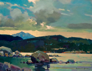 "SOLD ""Looking North From Painter's Lodge,"" by Robert Genn 14 x 18 – acrylic $4200 Unframed"