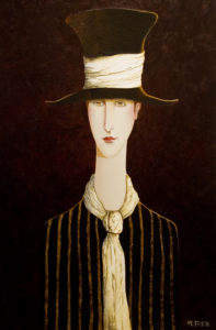 "SOLD ""Luna,"" by Danny McBride 24 x 36 – acrylic $3400 (thick canvas wrap without frame)"