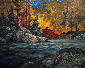 "SOLD ""Madawaska Backwater,"" by Phil Buytendorp 24 x 30 – oil $2290 Unframed"