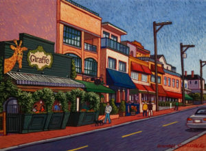"""SOLD """"Marine Drive – White Rock,"""" by Michael Stockdale 9 x 12 – acrylic $420 Unframed"""