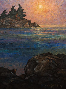 "SOLD ""Marine Evening,"" by Phil Buytendorp 12 x 16 – oil $1025 Unframed"