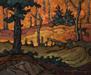 "SOLD ""Mature Forest,"" by Phil Buytendorp 10 x 12 – oil $730 Unframed"