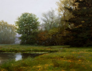 "SOLD ""May Meadows,"" by Renato Muccillo 14 x 18 - oil $2520 Custom framed"