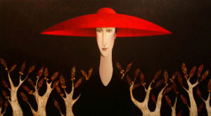 "SOLD ""Berry Bush,"" by Danny McBride 40 x 72 – acrylic $11,500 Unframed"