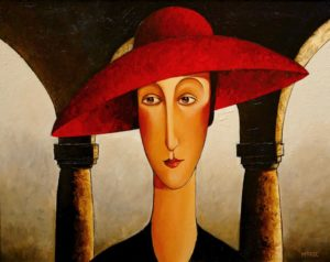 SOLD Untitled (circa 1996), by Danny McBride 22 x 28 – acrylic