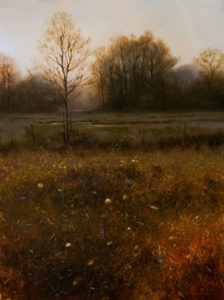 "SOLD ""Meadow in Morning Light,"" by Renato Muccillo 9 x 12 - oil $1675 in show frame"