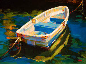 """SOLD """"Mexican Dory,"""" by Mike Svob 18 x 24 – acrylic $2400 Framed"""