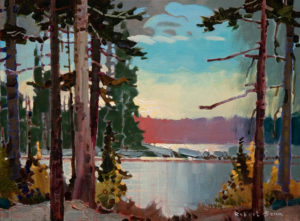 "SOLD ""Miracle Point at Bear Creek,"" by Robert Genn 12 x 16 – acrylic $2700 Unframed"