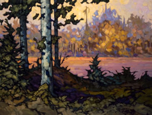"SOLD ""Moose Bay,"" by Phil Buytendorp 18 x 24 – oil $1440 Framed"