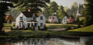 "SOLD ""Morning Shadows,"" by Bill Saunders 15 x 30 – acrylic $3645 Framed"