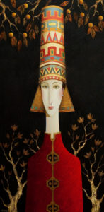 "SOLD ""Moroccan Nights,"" by Danny McBride 24 x 48 – acrylic $4100 (thick canvas wrap without frame)"