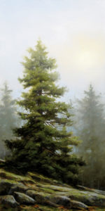 "SOLD ""The Muted Ridge,"" by Renato Muccillo 12 x 24 – oil $2500 Custom framed"