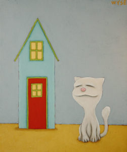 "SOLD ""My Home,"" by Peter Wyse 10 x 12 – acrylic $425 (unframed panel  with 1 1/2"" wide edging)"