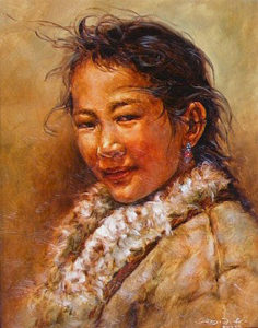 "SOLD ""Natural Beauty,"" by Donna Zhang 16 x 20 – oil $2450 Framed"