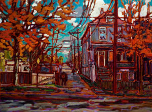 "SOLD ""Near First and Victoria,"" by Ed Loenen 18 x 24 – oil $1250 Unframed"