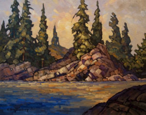 "SOLD ""Near Kuper Island,"" by Phil Buytendorp 16 x 20 – oil $1320 Framed"