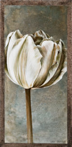 "SOLD ""Neutrals Chalk,"" by Linda Thompson 6 x 12 - acrylic $180 Unframed $330 in show frame"