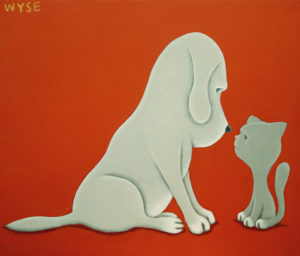"""SOLD """"Nice Nose,"""" by Peter Wyse 12 x 14 – acrylic $525 (unframed panel  with 1 1/2"""" wide edging)"""